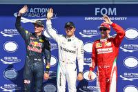 Formule 1 Photos - Max Verstappen, Red Bull Racing, deuxième; Nico Rosberg, Mercedes AMG F1, poleman; Kimi Raikkonen, Ferrari, troisième