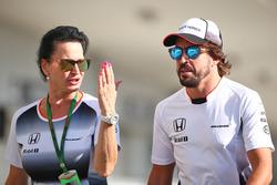 Fernando Alonso, McLaren with Silvia Hoffer, McLaren Press Officer