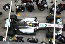 Nico Rosberg, Mercedes GP F1 Team pit stop
