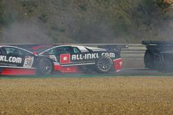 Crash #37 Nicky Pastorelli, Dominik Schwager; Lamborghini Murcielago 670 R-SV; All-Inkl.com Munnich Motorsport