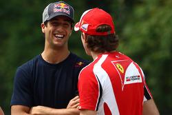 Daniel Ricciardo Test Driver, Scuderia Toro Rosso and Jules Bianchi, Test Driver, Scuderia Ferrari