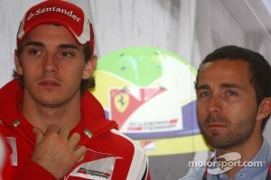 Ferrari connection: Jules Bianchi, 2011 Test Driver, Scuderia Ferrari and his manager Nicolas Todt