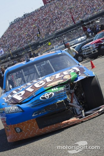 Damaged car of Kyle Busch, Joe Gibbs Racing Toyota