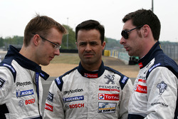 Sébastien Bourdais, Pedro Lamy and Simon Pagenaud