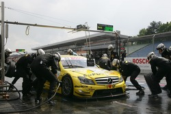 Pitstop for David Coulthard, Muecke Motorsport, AMG Mercedes C-Klasse