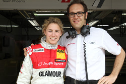 Rahel Frey, Audi Sport Team Phoenix, Audi A4 DTM and Laurent Fedacou, race engineer of Rahel Frey, Audi Sport Team Phoenix, Audi A4 DTM
