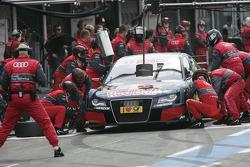 Pitstop for Mattias Ekstrom, Audi Sport Team Abt, Audi A4 DTM