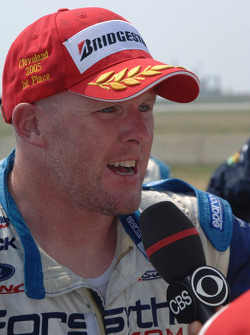 Race winner Paul Tracy