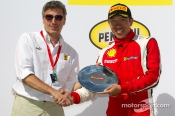 458 podium: second place Harry Cheung