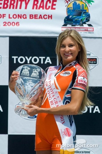 2005 Miss Long Beach Grand Prix holds the celebrity race trophy