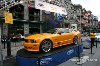 Ford Racing Festival on Crescent street: cars on display