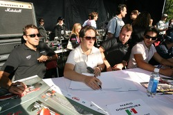 Autograph session: Justin Wilson and Mario Dominguez