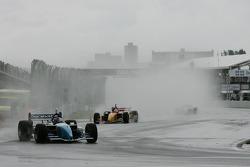First lap: A.J. Allmendinger leads Sébastien Bourdais