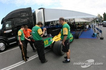 Team Australia car at tech inspection