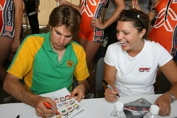Will Power and Katherine Legge