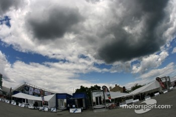 Menacing clouds over Toronto paddock
