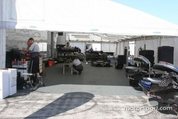 The Pacific Coast Motorsports Paddock area