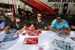 Paul Tracy, Justin Wilson and Graham Rahal