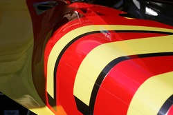 Detail of Sébastien Bourdais' car