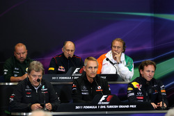 Mike Gascoyne, Team Lotus, Chief Technical Officer, Norbert Haug, Mercedes, Motorsport chief, Franz Tost, Scuderia Toro Rosso, Team Principal, Martin Whitmarsh, McLaren, Chief Executive Officer, Robert Fearnley Force India F1 Team, Christian Horner, Red B