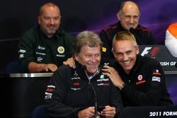 Norbert Haug, Mercedes, Motorsport chief, Martin Whitmarsh, McLaren, Chief Executive Officer