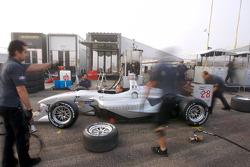 Pacific Coast Motorsports team members at work