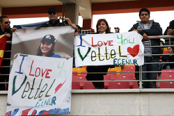A banner in the crowd for Sebastian Vettel, Red Bull Racing