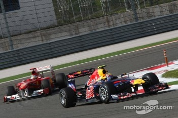 Mark Webber, Red Bull Racing and Fernando Alonso, Scuderia Ferrari