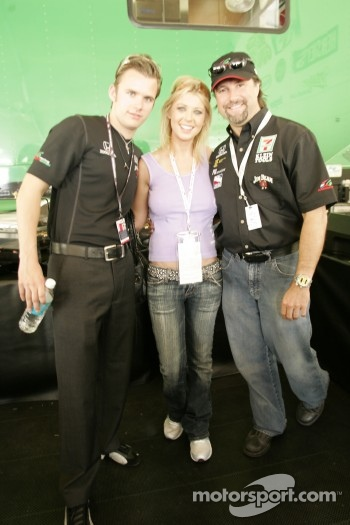 Darren Manning, Tara Reid and Michael Andretti