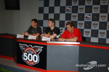 Press conference: Scott Sharp, Buddy Lazier and Richie Hearn