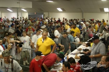 Fans at autograph session