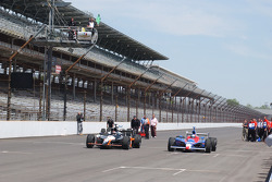 Michael Andretti and Marco Andretti take a lap together