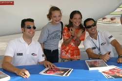 Sam Hornish Jr. and Helio Castroneves