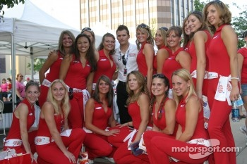 Dan Wheldon in charming company