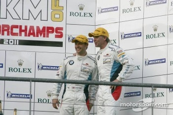 LMGTE pro podium: third place Andy Priaulx and Uwe Alzen