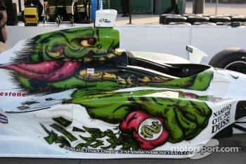 Artwork on the car of Marty Roth