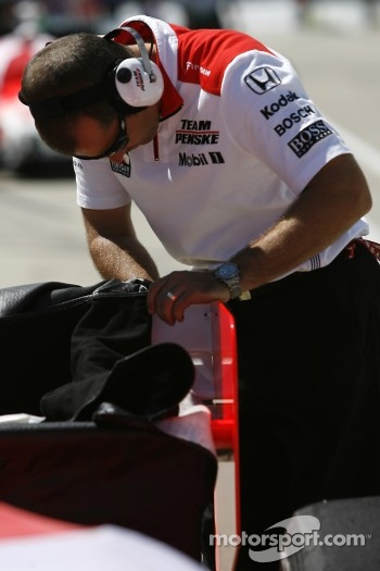 Team Penske team member at work