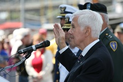 Enlistment Ceremonies oath administered by Sen. Richard Lugar (R- Ind.) at the Indianapolis Motor Speedway on Armed Forces Day/Bump Day