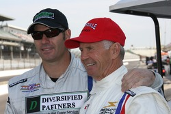 Honorary starter 1963 Indianapolis 500 winner Parnelli Jones with his son P.J. Jones
