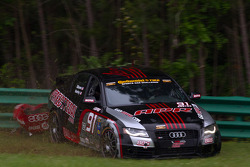 #91 APR Motorsport Audi S4: Gary Gibson, Josh Hurley crashes