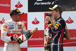 Podium: race winner Sebastian Vettel, Red Bull Racing, second place, Lewis Hamilton, McLaren Mercedes