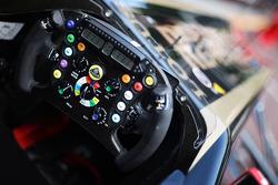 Vitaly Petrov, Lotus Renault GP, stearing wheel, detail