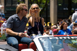 Indy 500 festival parade: Jay Howard, Sam Schmidt - RLL Racing