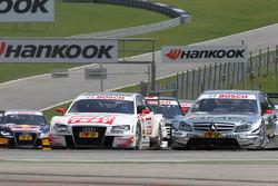 Timo Scheider, Audi Sport Team Abt Audi A4 DTM, Jamie Green, Team HWA AMG Mercedes C-Klasse