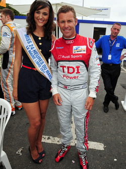 Tom Kristensen with Miss 24 Heures du Mans 2011