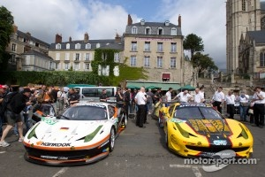 #89 Hankook - Team Farnbacher Hankook Ferrari 458 Italia and #66 JMW Motorsport Ferrari 458 Italia