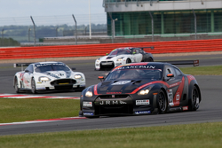 #23 JR Motorsports Nissan GT-R GT1: Michael Krumm, Lucas Luhr leads a group
