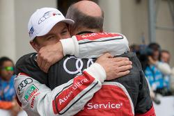 Race winner Marcel Fässler with Dr. Wolfgang Ullrich