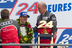 LM P1 podium: Dr. Wolfgang Ullrich and Sébastien Bourdais