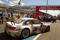 Second place #1 BMW Motorsport BMW M3GT: Jorg Muller, Augusto Farfus Jr., Uwe Alzen, Pedro Lamy enters parc ferme